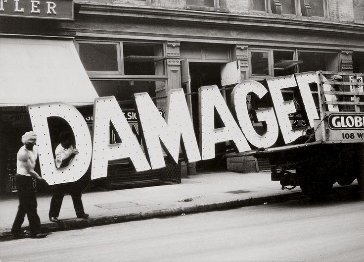Artwork image, Walker Evans, Truck and Sign