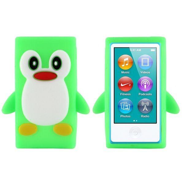 Happy Penguin (Lys Grønn) iPod Nano 7 Deksler