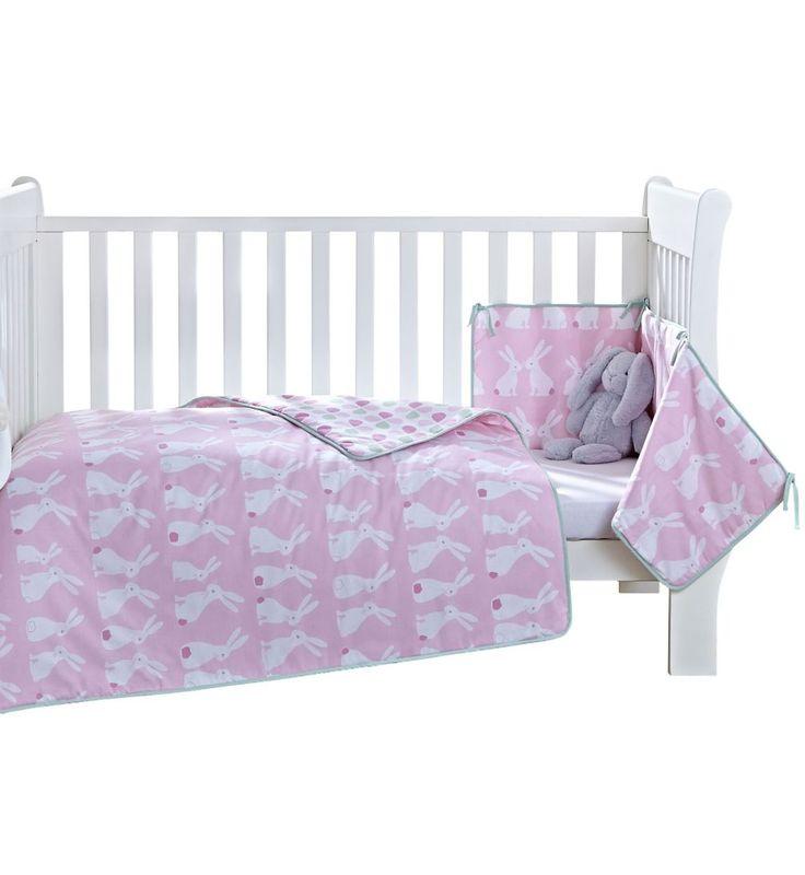 Clair de Lune Rabbits Cot/Cot Bed Quilt and Bumper Set