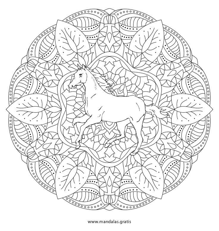 die besten 25 mandala pferd ideen auf pinterest