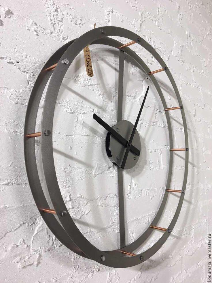 """Купить Часы 60см """"Raam"""" - настенные часы, минимализм, минималистичное украшение, декор для интерьера. Стиль Лофт"""