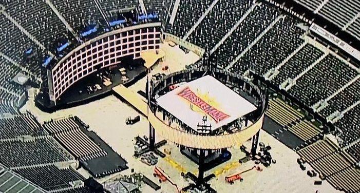Wrestlemania 35 Stage Set Latest Look Inside Met Life Stadium In 2020 Wrestlemania Wrestlemania 35 Met Life