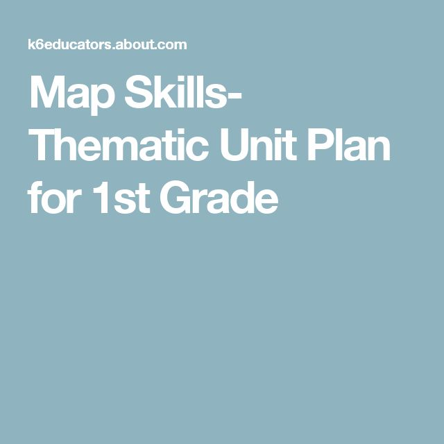 Map Skills- Thematic Unit Plan for 1st Grade