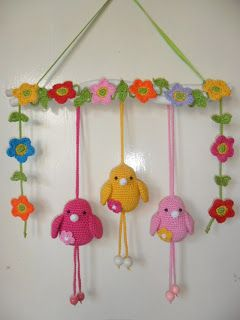 cute crocheted birds