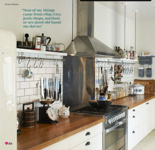 finally found our kitchen    white, wood and steel rustic industrial scandinavian modern kitchen (by recent settlers)