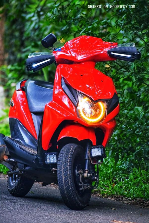 modified honda dio with angel eye lights modified mono honda Dio Album Covers