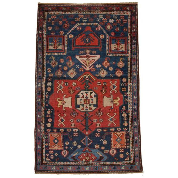 Antique Caucasian Prayer Rug, Karabagh Region of Scarce Design For Sale