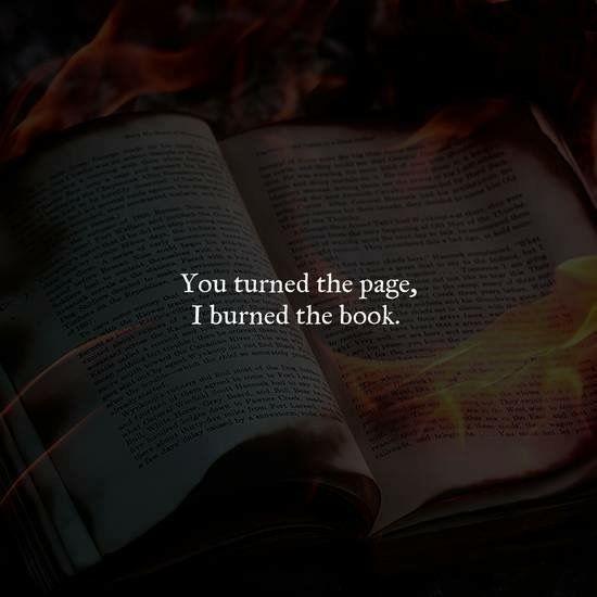 Some bridges you burn