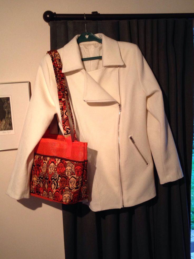 Jacket woollen. Kwik sew 3764. Bag Satchel it by Nancy Ota.