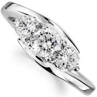 If the bands around it were outlined with small diamonds, this would be my ring exactly!