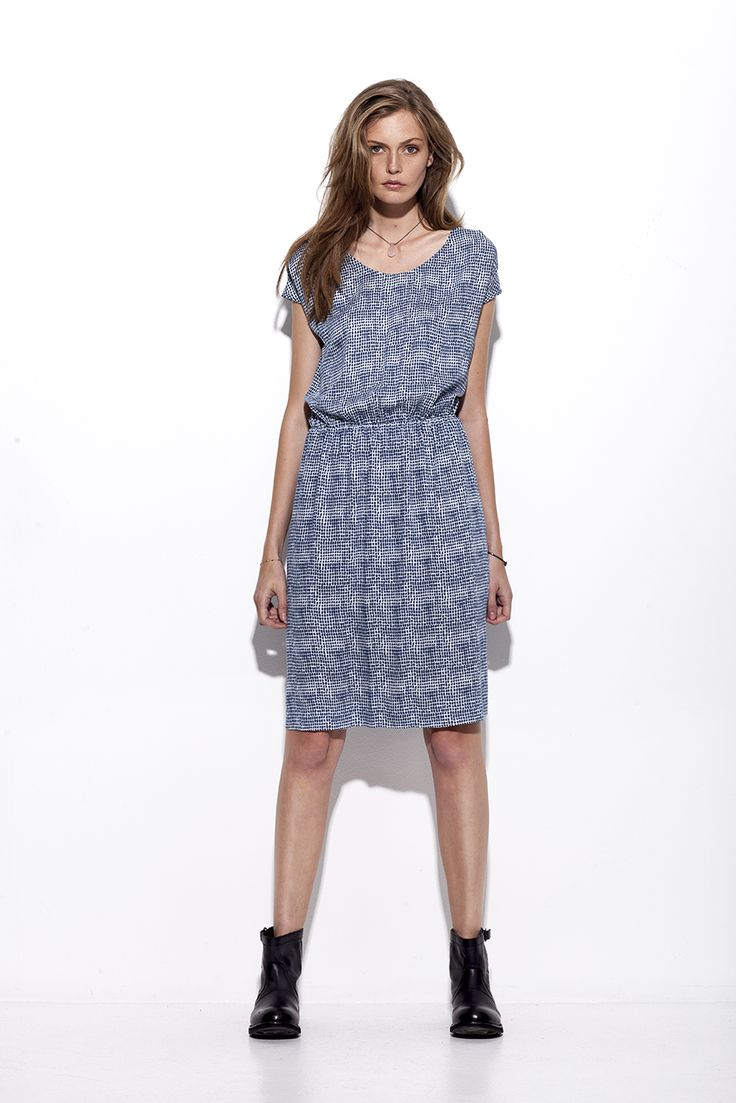 Bogelund-Jensen´s SS15 collection: The Italian dress in Blue Embers fabric