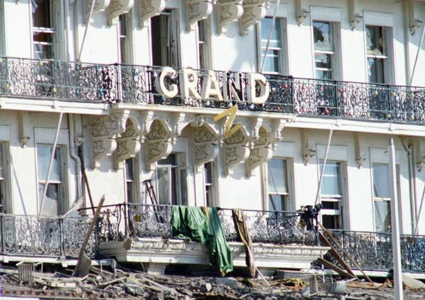 Margaret Thatcher: On 12th October 1984, at The Grand Hotel in Brighton, a bomb planted by IRA terrorist Patrick Magee - four weeks earlier under the bath in room 629 - exploded. The bomb was made from bits of a VCR, a crude kitchen timer and 9kg of Frangex gelignite, which was wrapped in cling-film to disguise the smell from the sniffer dogs.