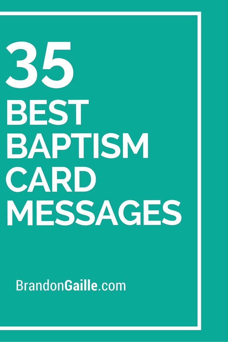 35 Best Baptism Card Messages