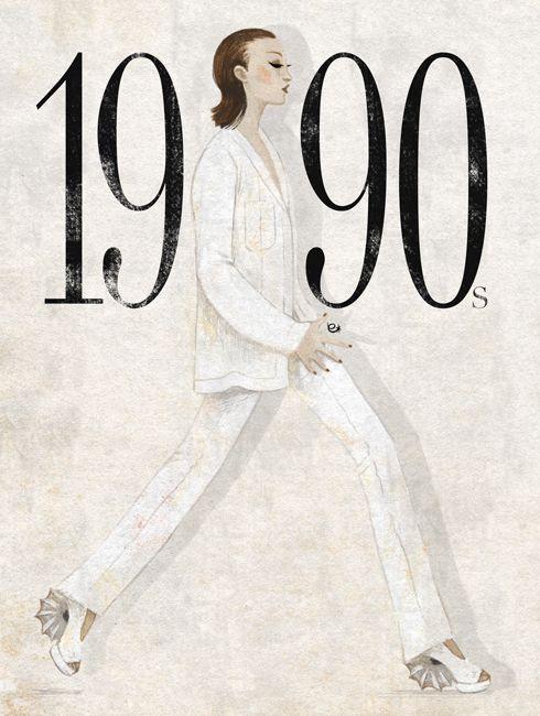 Foi a década da diversidade de estilos. Onde as saias podiam ser longas ou curtas. Júlia Roberts fazia sucesso em Uma Linda Mulher. As tops models ganharam destaque.