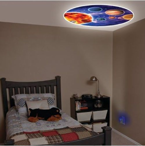 Jasco Blue Solar System Projection LED Night Light for Image on Wall or Ceiling #Jasco