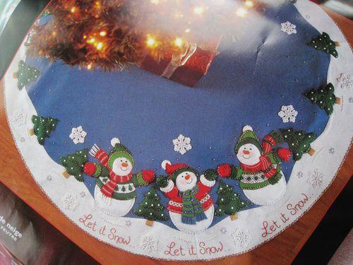 let it snow tree skirt