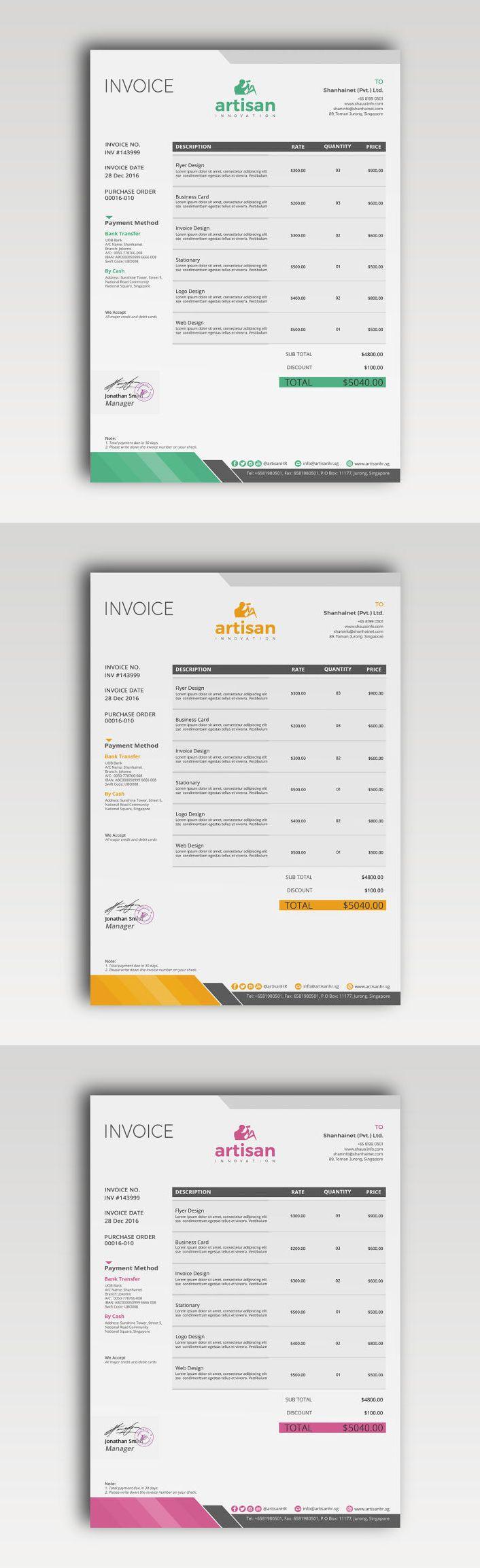 Invoice Design Psd Funfpandroidco - Invoice template psd