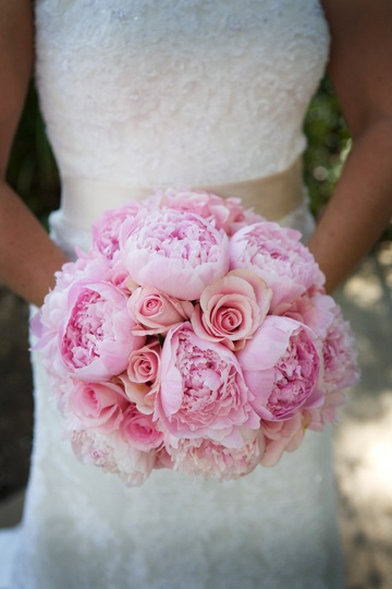 Pink Peony and Rose Bouquet; Flowers by Jackie Combs Floral Design, Planning by A Stunning Affair