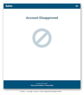 Dacicus: Sulvo -  Account Disapproved