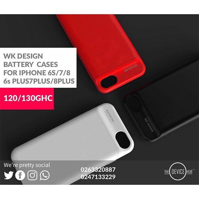 new product fa0e2 97a2f WK DESIGN SAKI POWERBANK PHONE CASE FOR IPHONE 7/8/7Plus/8plus PRICE ...