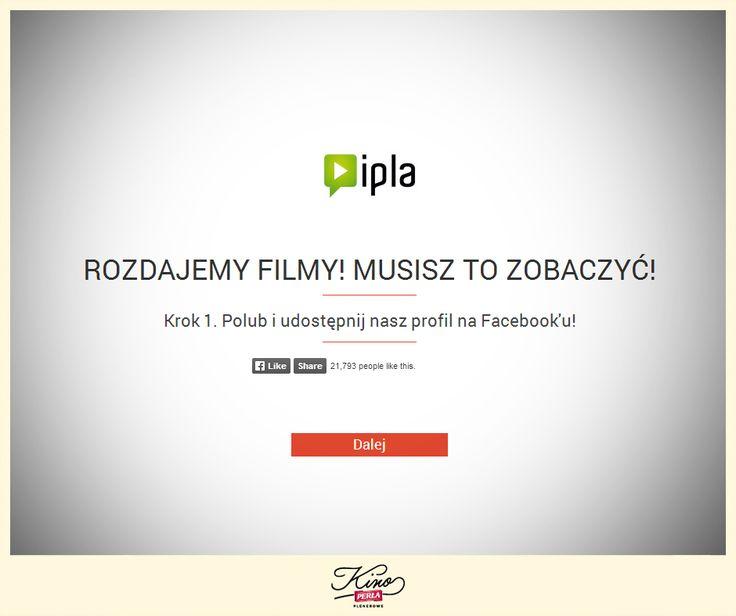 Rozdajemy filmy na ipla! Wejdź na naszą stronę: http://kinoperla.pl/ , zjedź na sam dół, pobierz kod i oglądaj wybrane filmy zupełnie za darmo! :)