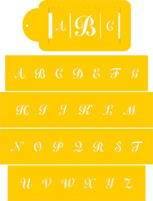 Create your own monogram design with Designer Stencils Monogram Stencil Set - beautiful!