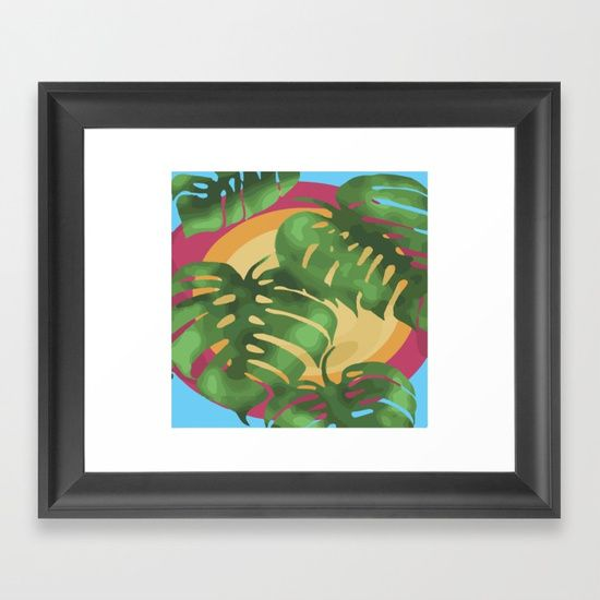 Choose from a variety of frame styles, colors and sizes to complement your favorite Society6 gallery, or fine art print - made ready to hang. Fine-crafted from solid woods, premium shatterproof acrylic protects the face of the art print, while an acid free dust cover on the back provides a custom finish.  #tropical#plants#rainforest#art#watercolor#watercolour#greens#byronbay#artist#design#vector#artforsale#love#beautiful#magic#fantasy#crystal#crystals#crystalart