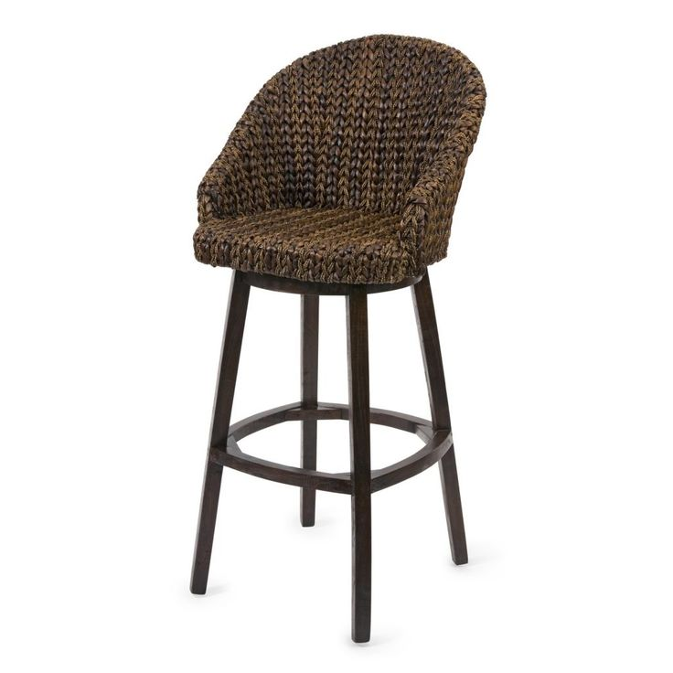 furniture shabby chic bar stool with dark varnished seagrass seat and black wooden pedestal seagrass bar stools