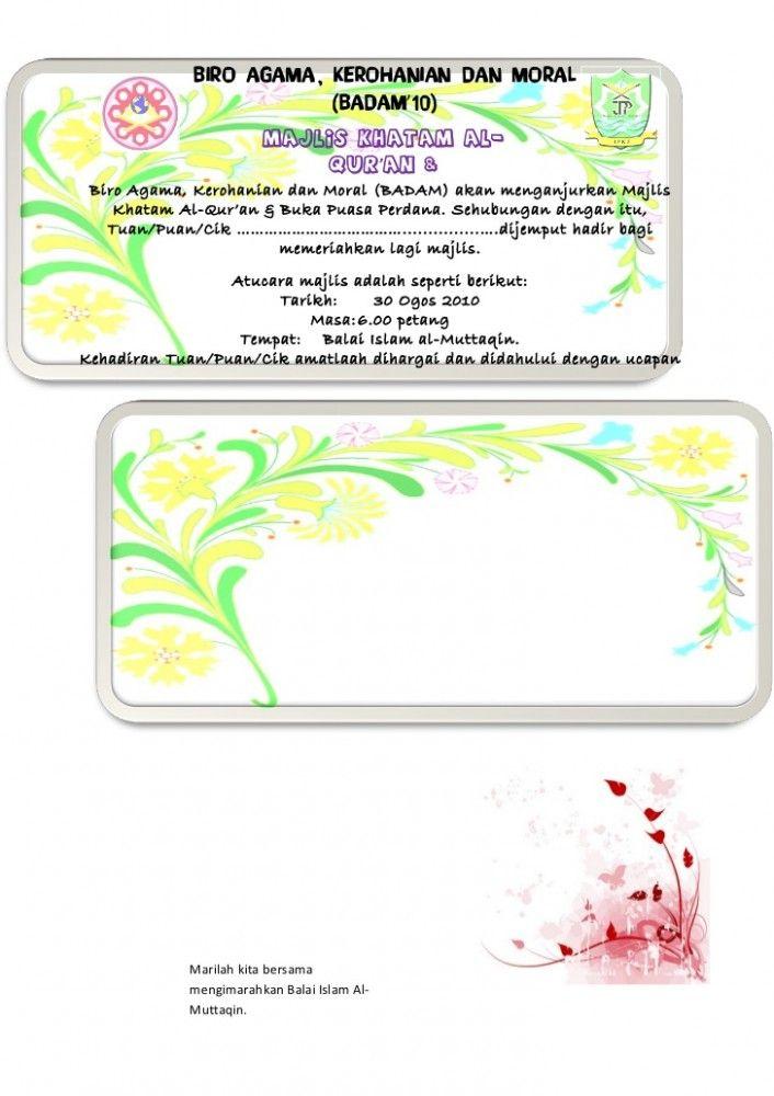 Template Kad Jemputan Berbuka Puasa Eliminate Your Fears And Doubts About Template Kad Jempu Card Template Calendar Template Templates