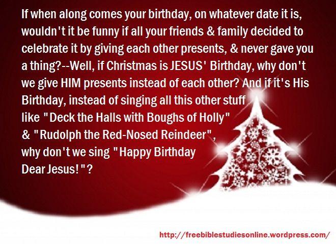 Christmas is Jesus birthday  Christmas Quotes  Pinterest