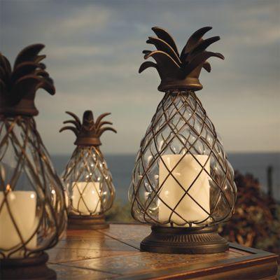 Pineapple Hurricane Lantern - Frontgate