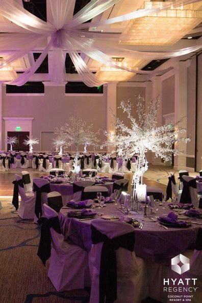 A Colorful Formal Reception In Estero Ballroom At Hyatt Regency