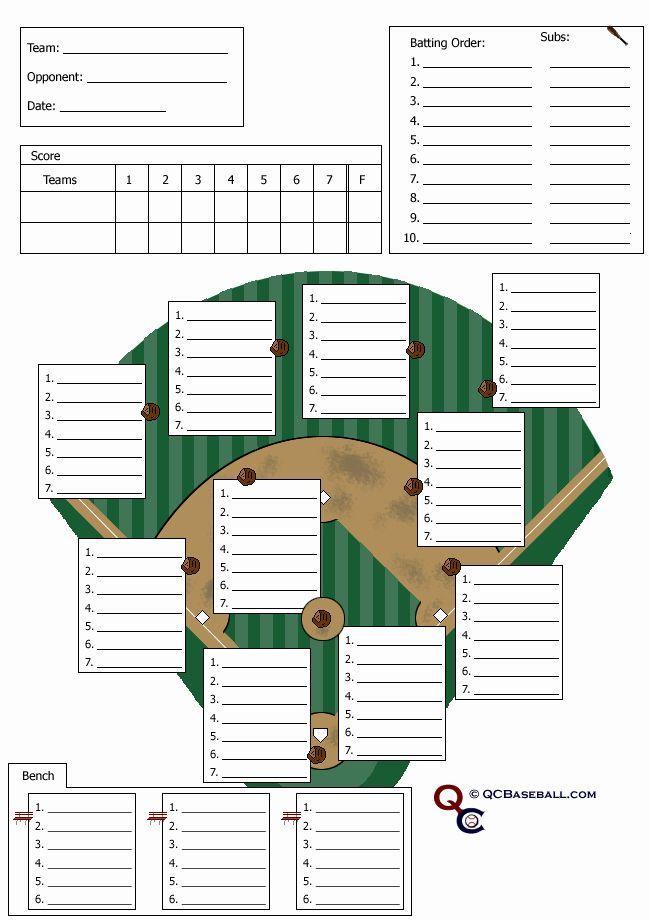 Baseball Lineup Card Template Best Of 18 Useful Baseball Lineup Cards In 2020 Baseball Lineup Depth Chart Card Template
