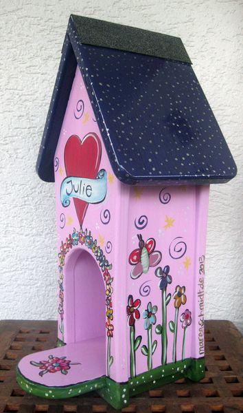 Nistkästen & Vogelhäuser - Vogelhäuschen - Futterhäuschen - Mädchen - ein Designerstück von personalisiertes bei DaWanda