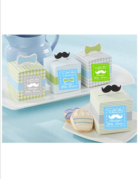 Personalized Baby Boy Favor boxes  set of by lovelypapercreations