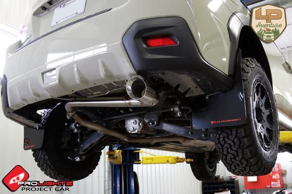 Brand:SubaruModel:Crosstrek   Year:2016Color:Kaki    Modifications: Lift kit: LP AventureTires:215/75R15 BFGoodrichAll Terrain T/A KO2Wheels:Method Racing WheelsMR502 VTSpec 15x7 +15Cargo basket: Yakima LoadwarriorMuffler: Lachute Performance muffler deleteMudflaps: Rally Armor