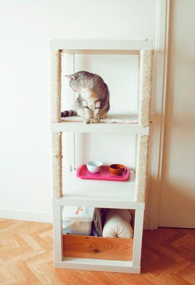 как сделать кошачий домик