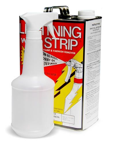 Lighting Strip Paint Stripper removes ALL paints and adhesives. It also cleans the pores in concrete surfaces, allowing subsequent sealing of the concrete with our penetrating sealers. Lightning Strip penetrates through multiple layers of paint and its slow evaporation allows it to strip large areas at once. Unlike many other strippers, it leaves no chalky residue on the surface and is easily neutralized with water. Available in 1-gallon cans or 4-gallon cases.