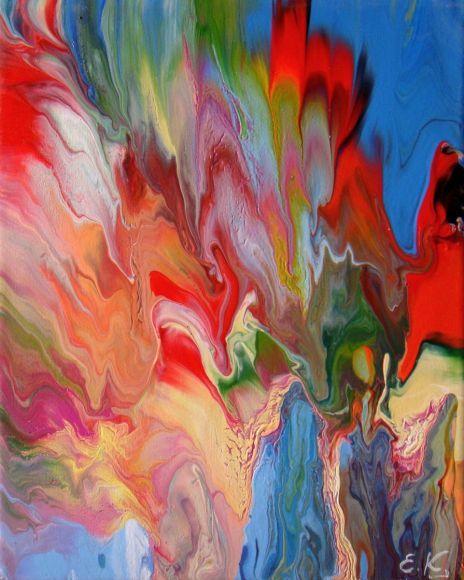 "Small Acrylic Painting 24 x 30cm (12 x 10"")"