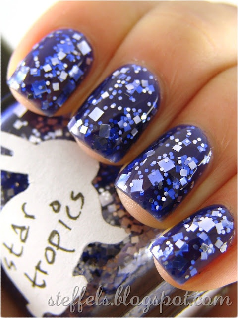 HARE - Star Tropics, amazing purple with silver glitter!