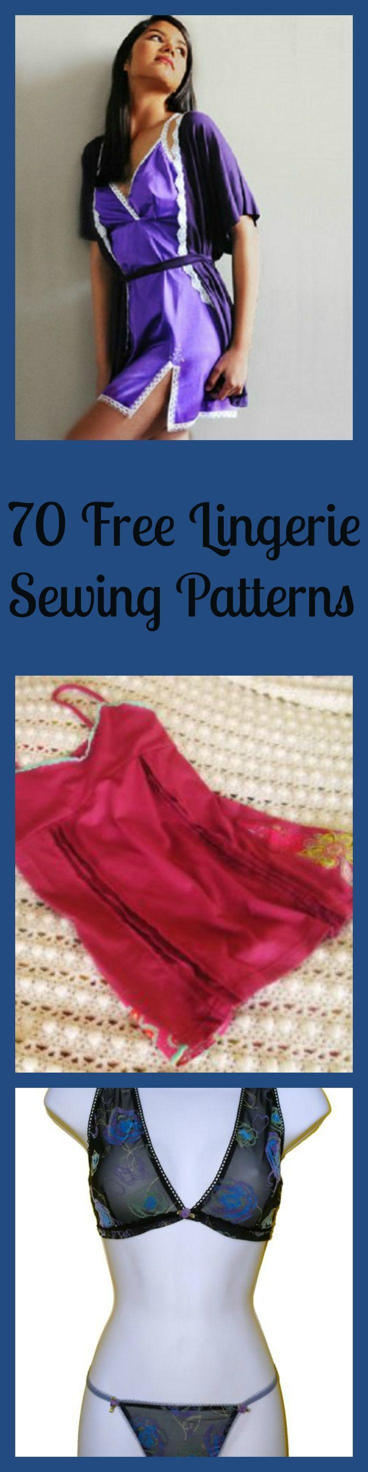 70 Free Lingerie Sewing Patterns - lingerie slip, hottest womens lingerie, women's intimates *sponsored
