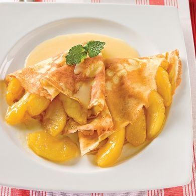 Crêpes aux pommes, sauce crémeuse à l'érable - Brunchs - Recettes 5-15 - Recettes express 5/15 - express - rapide - Pratico Pratiques