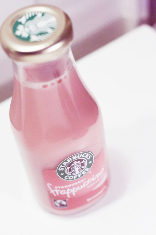 starbucks, pink, and drink Bild