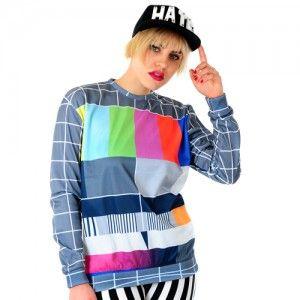 Bluza Oversize Hipster z nadrukiem NO SIGNAL unisex