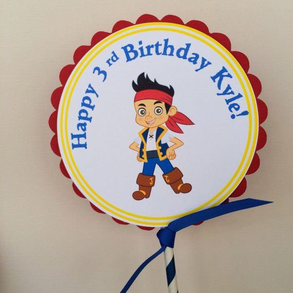 Jake and the Neverland Pirates centerpiece by BerrySweetParties, $10.00