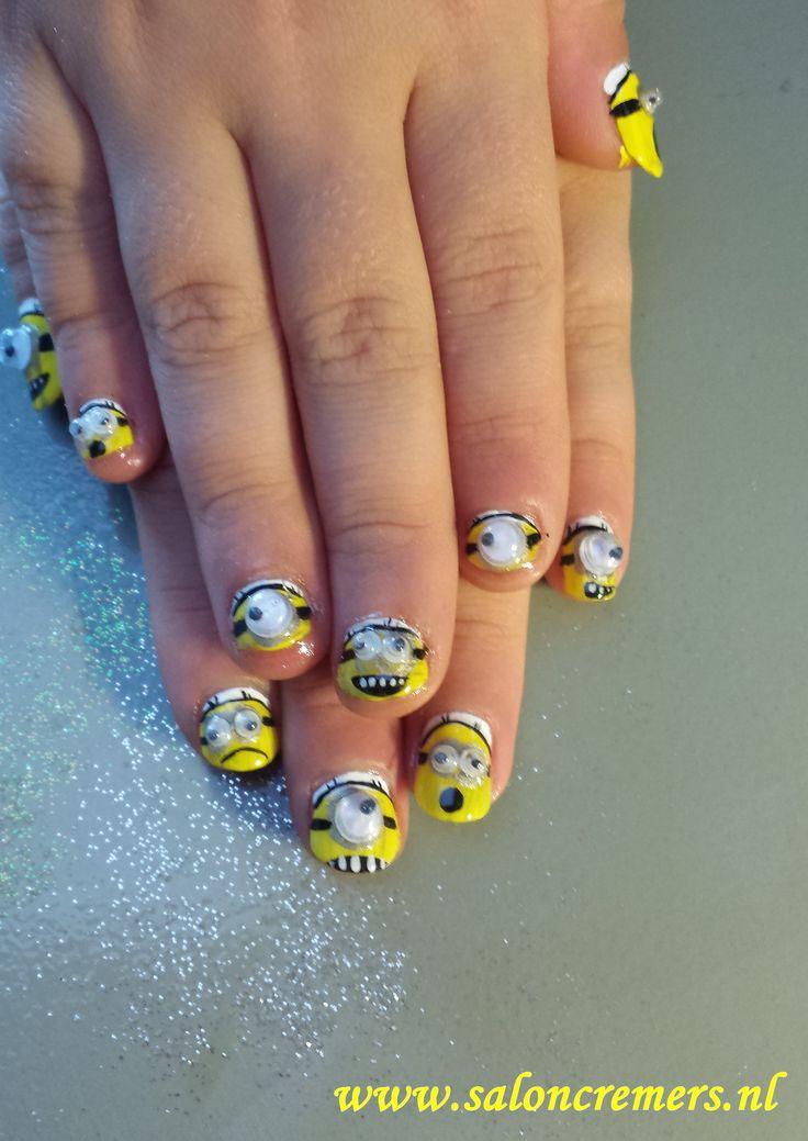 despicable me nail art minions