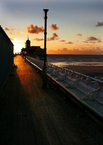 Sunset on Blackpool's North pier by Diane