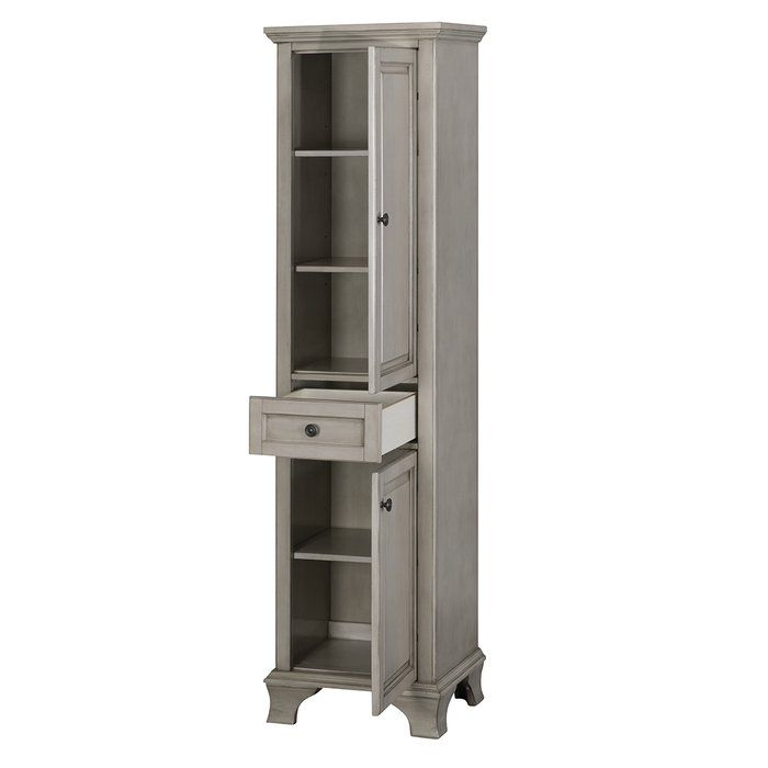 Lark Manor Levesque 19 W X 70 H Linen Tower Reviews Wayfair Linen Cabinet Cabinet Shelving Bathroom Linen Cabinet