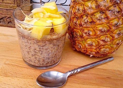 Overnight oats med chiafrön