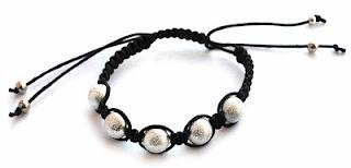 TUTORIAL Beretta-art biżuteria ręcznie robiona - handmade jewelry: Czarno-srebrna bransoletka Shamballa tutorial - kurs